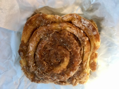 This Riverbend cinnamon roll is delicious.