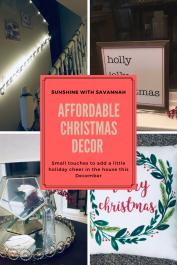 Affordable christmas decor